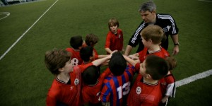 Libertyville Sports Complex Soccer Team Huddle