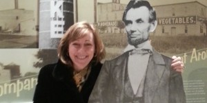 Visit Lake County President Maureen with President Lincoln