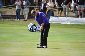 Luke Donald, putting during the final round of the BMW Championship at Conway Farms