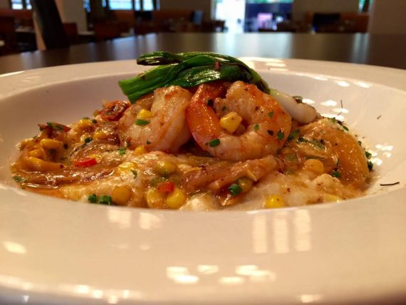 BBQ Shrimp & Grits at Cadwell's Grille in Deerfield