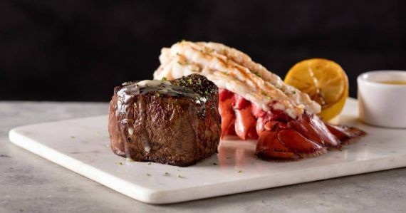 Filet and lobster tail Fleming's Prime Steakhouse & Wine Bar in Lincolnshire