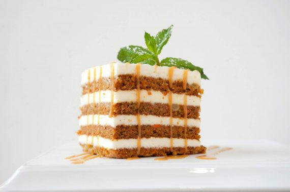 Eddie's Famous Carrot Cake at Eddie Merlot's in Lincolnshire