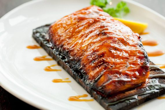 Cedar Planked Salmon at Wildfire in Lincolnshire
