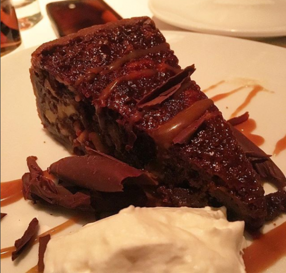 Walnut turtle pie at Flemings in Lincolnshire