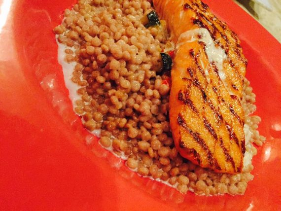 Grilled Atlantic Salmon at Cafe Pyrenes